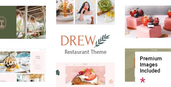 Drew - Restaurant Theme - Restaurants & Cafes Entertainment