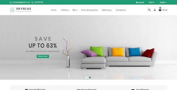 Skyblue Furniture and Home Decor Prestashop Theme