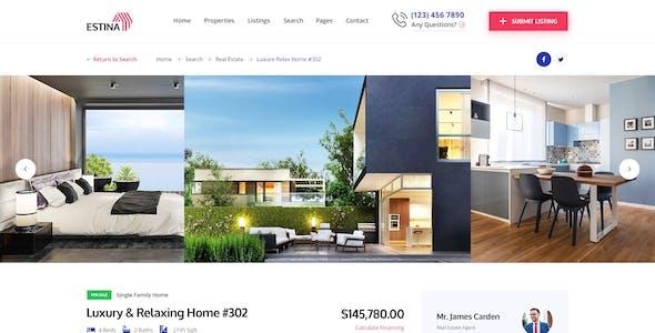 Estina Real Estate PSD