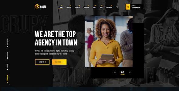 Grupi - Digital Agency PSD Template