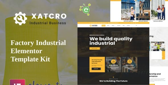 Xatcro - Factory Industrial Elementor Template Kit