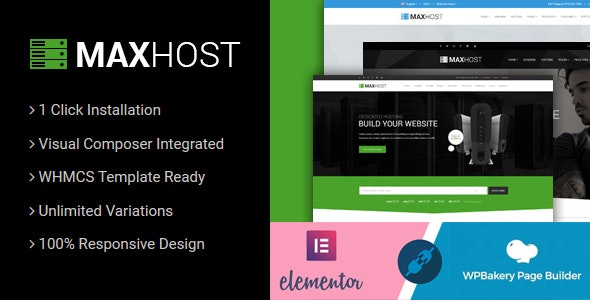 MaxHost v7.5.2 – Web Hosting, WHMCS and Corporate Business WordPress Theme with WooCommerce
