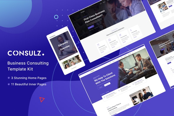 Consulz - Consulting Company Elementor Template Kit - Business & Services Elementor