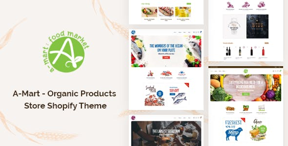A-Mart - Organic Products Store Shopify Theme