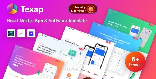 Texap - Next.js Strapi App & SaaS Startup Template
