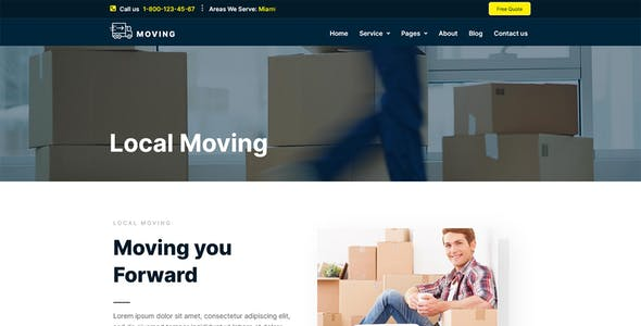 Moving Service - Local Business Elementor Template Kit