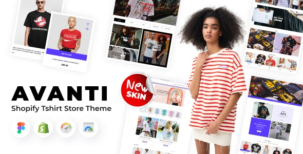 Avanti - Shopify Tshirt Store Theme - Fashion Shopify