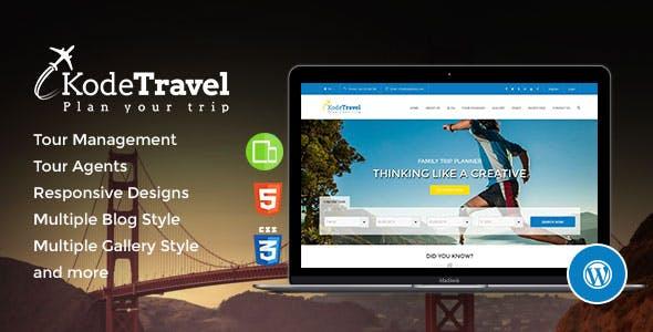 KodeTravel - Tourism WordPress Theme