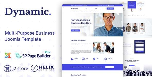 Dynamic - Responsive Multipurpose Joomla Template - Business Corporate