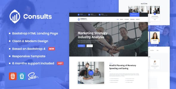 Consults – Consulting and Finance HTML Landing Page Template
