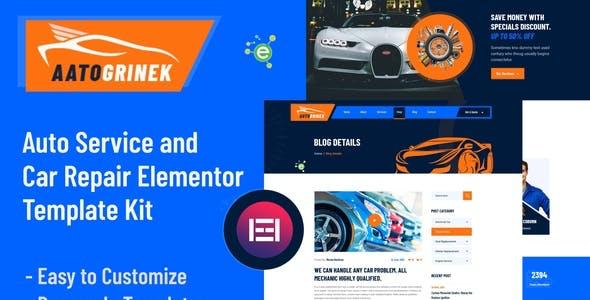 Aatogrinek - Auto Service & Car Repair Elementor Template Kit