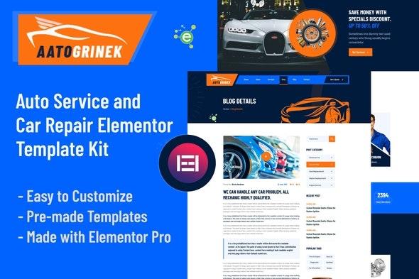 Aatogrinek - Auto Service & Car Repair Elementor Template Kit - Business & Services Elementor