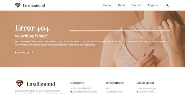 Luxdiamond - Jewelry Shop Elementor Template Kit