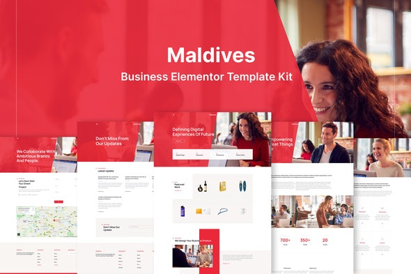 Maldives - Business & Agency Elementor Template Kit - Business & Services Elementor