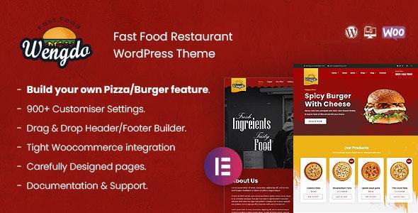 Wengdo - Fastfood WordPress Theme - Food Retail