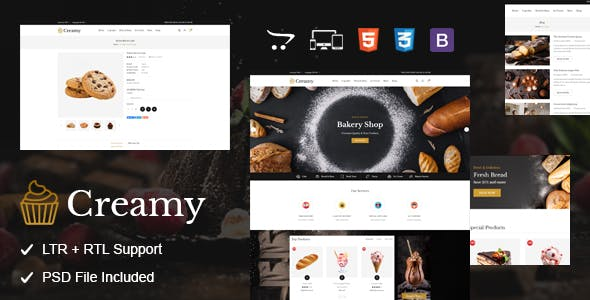 Creamy - Bakery OpenCart Theme
