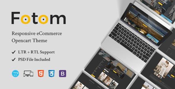 Fotom - Photography Responsive OpenCart Theme
