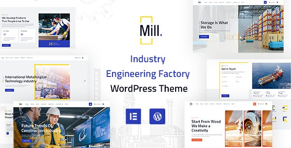 Mill   Industry Engineering Factory WordPress Theme