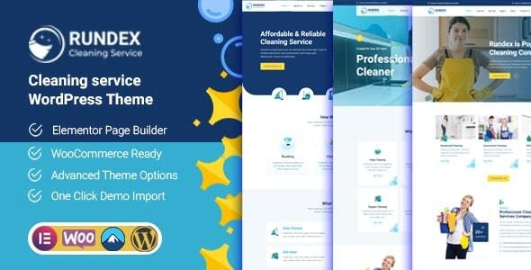 Rundex - Cleaning Services WordPress Theme - Business Corporate