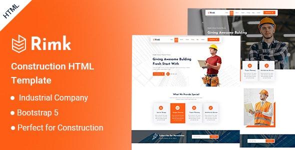 Rimk- Construction HTML Template - Site Templates