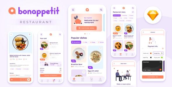 Bon Appetit – Restaurant App Template - Restaurants & Cafes Entertainment