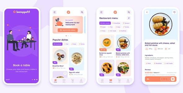 Bon Appetit – Restaurant App Template