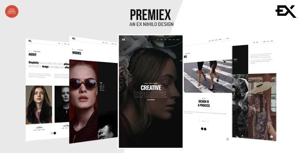 Premiex - One Page Portfolio Template - Portfolio Creative