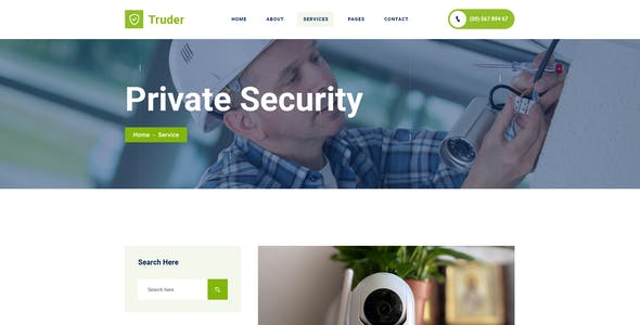 Truder - CCTV Security Service HubSpot Theme