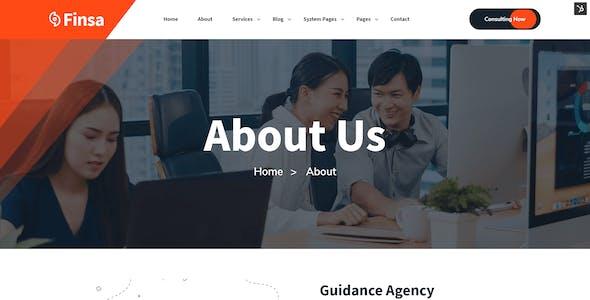 Finsa - Business & Consultancy Firm HubSpot Theme