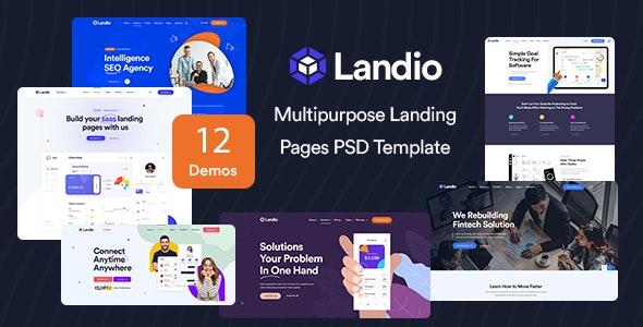 Landio - Multipurpose Landing Page PSD Template - Marketing Corporate