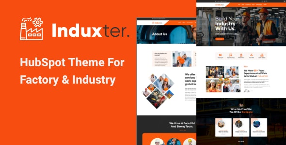 Induxter - HubSpot Theme for Factory and Industry - Corporate HubSpot CMS Hub