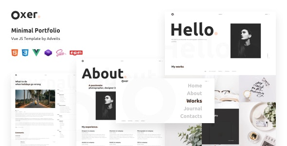 Oxer - Minimal Portfolio Vue JS Template - Portfolio Creative
