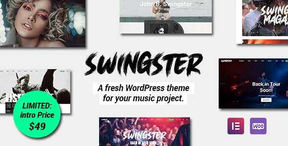 Swingster - Elementor Music WordPress Theme - Music and Bands Entertainment