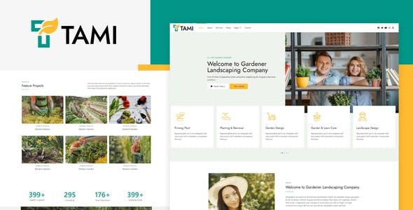 Tami - Landscape & Gardening Elementor Template Kit