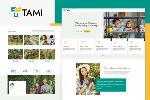 Tami - Landscape & Gardening Elementor Template Kit - Business & Services Elementor