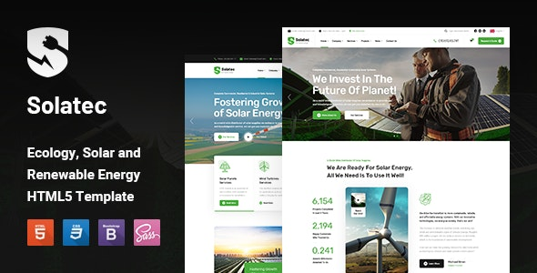 Solatec - Ecology & Solar Energy HTML5 Template - Business Corporate