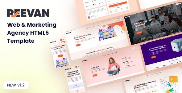 Reevan - Web & Marketing Agency HTML5 Template - Creative Site Templates
