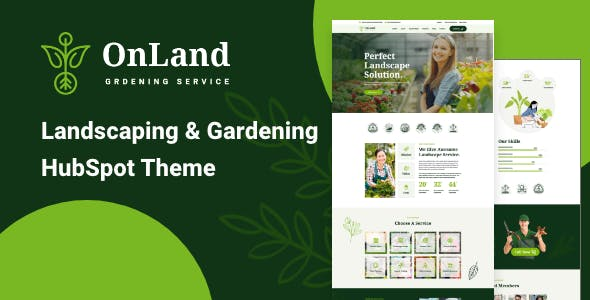 OnLand – Landscaping and Gardening HubSpot Theme