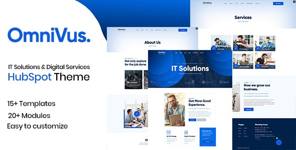 Omnivus - IT Solutions & Digital Services HubSpot Theme - Technology HubSpot CMS Hub