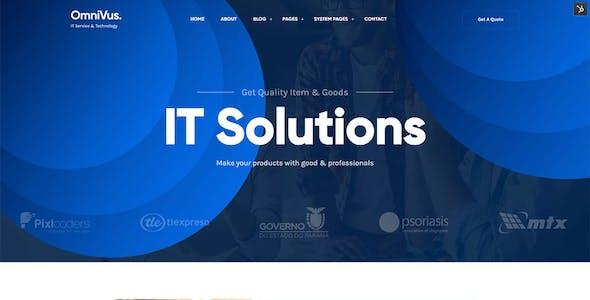 Omnivus - IT Solutions & Digital Services HubSpot Theme