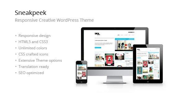 Sneakpeek Creative Portfolio WordPress Theme - Portfolio Creative