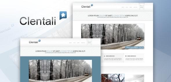 Clentali psd template - Portfolio Creative
