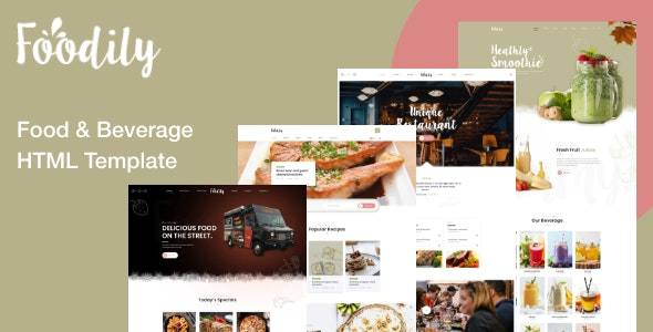 Foodily - Food and Beverage Shop HTML Template - Food Retail