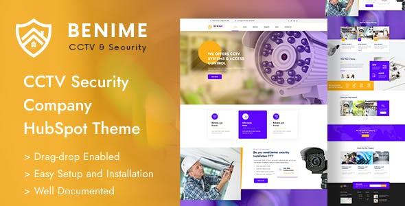 Benime - CCTV Surveillance Service HubSpot Theme