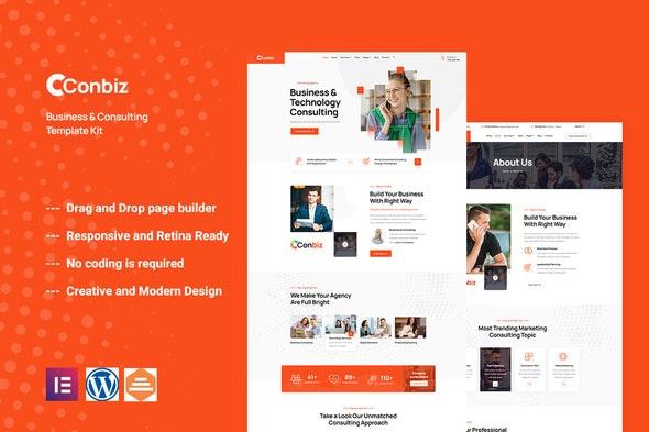 Conbiz - Consultancy & Business Elementor Template Kit - Finance & Law Elementor