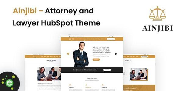 Ainjibi – Attorney and Lawyer HubSpot Theme - Corporate HubSpot CMS Hub