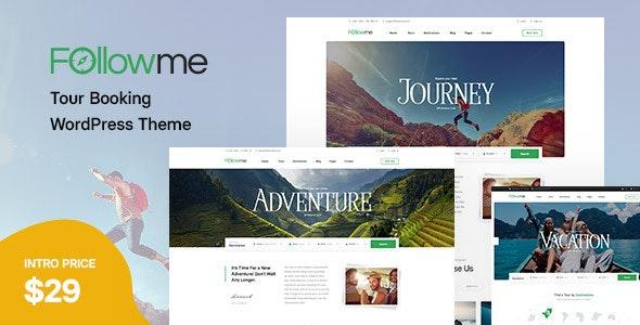 Followme - Tour Booking WordPress Theme - Travel Retail