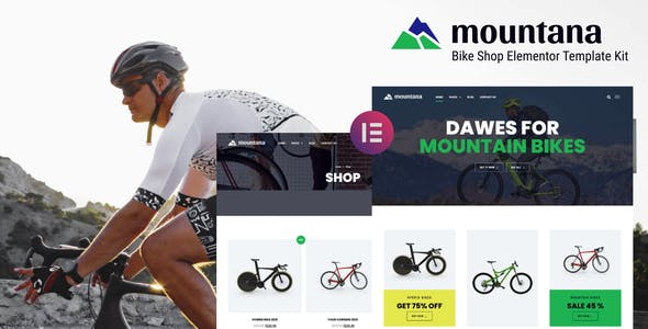 Mountana - Bike Shop WooCommerce Elementor Template Kit