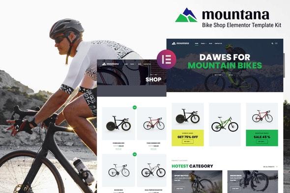 Mountana - Bike Shop WooCommerce Elementor Template Kit - Shopping & eCommerce Elementor