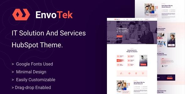 EnvoTek - IT Solution and Services HubSpot Theme - Technology HubSpot CMS Hub